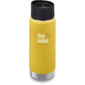Klean Kanteen Wide Vacuum Insulated Drinkfles Café Cap 2.0 473ml geel